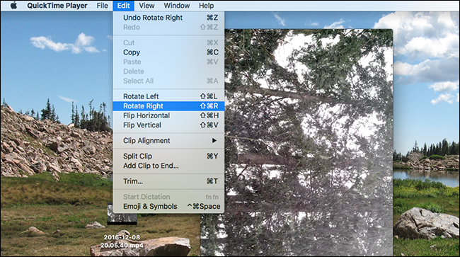How to rotate a video on your mac quicktime rotate video right ccuart Choice Image