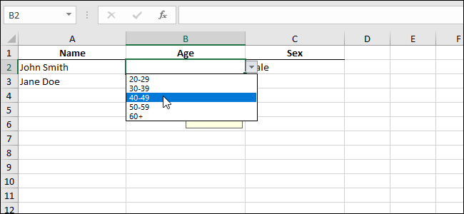 How to Add a Drop-Down List to a Cell in Excel