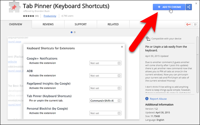 How to Pin and Unpin Tabs in Chrome and Firefox with a Keyboard Shortcut