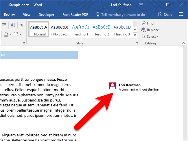 How to Always Show Comment Lines in Microsoft Word