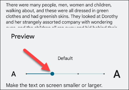 Adjust font scale.