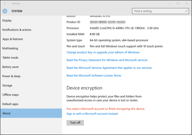 How to Enable Full-Disk Encryption on Windows 10