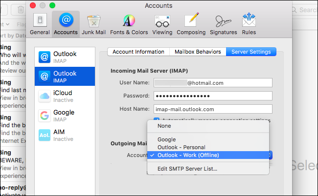 what is a smtp server mac