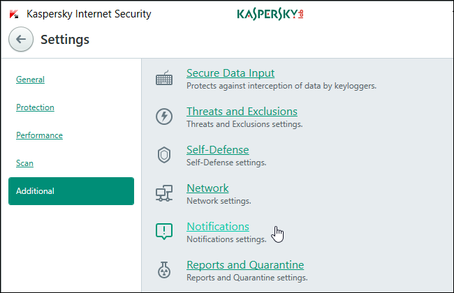 How to Get Rid of Kaspersky's Notifications, Sounds, and