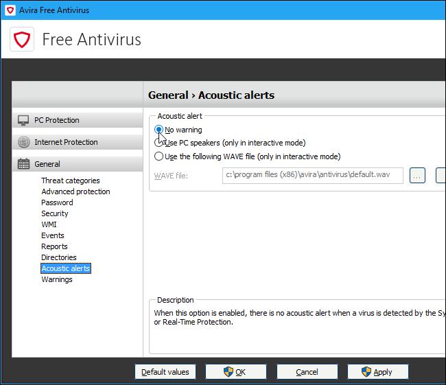 avira web protection keeps turning off