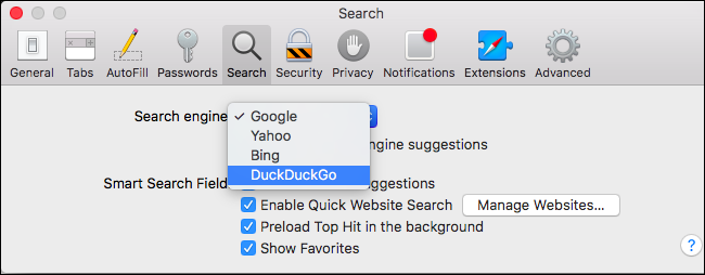 DuckDuckGo Safari Default Engine