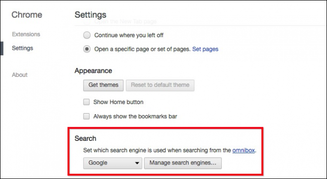 how to remove default search engine in chrome