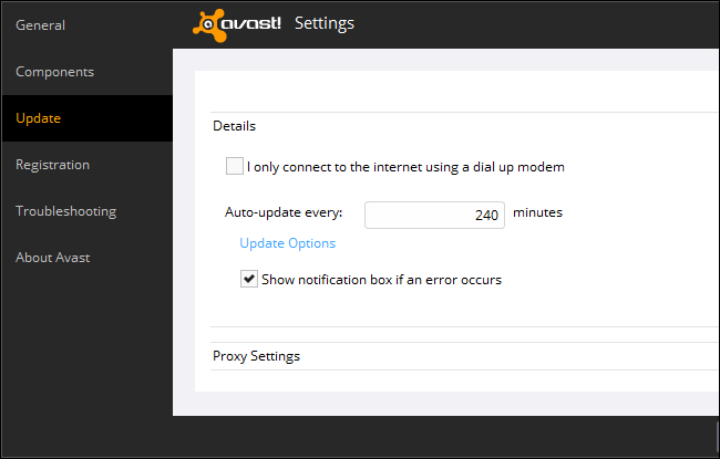 avast stopped working after update