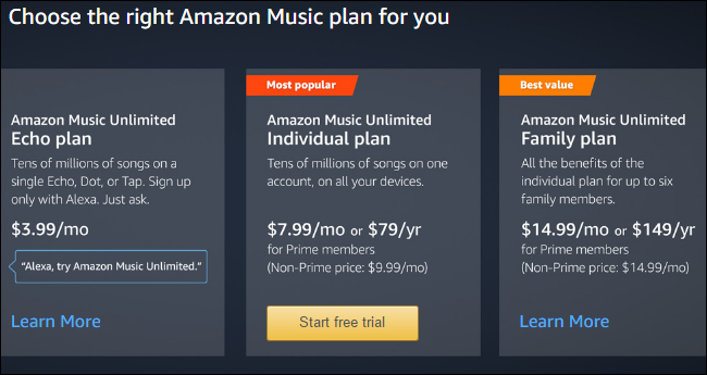 af21167b614ac1 Amazon Music Unlimited is Amazon's real competitor to services like  Spotify, Apple Music, and Google Play Music All Access. You get a much  larger catalog of ...