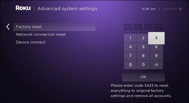 roku-factory-settings