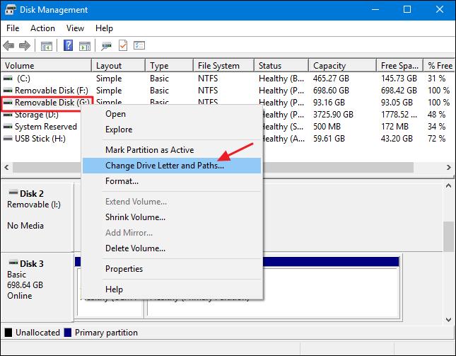 Change Drive Letter Windows  Usb