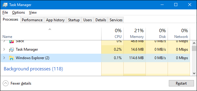 How to Restart Windows' Explorer exe (Along with the Taskbar and