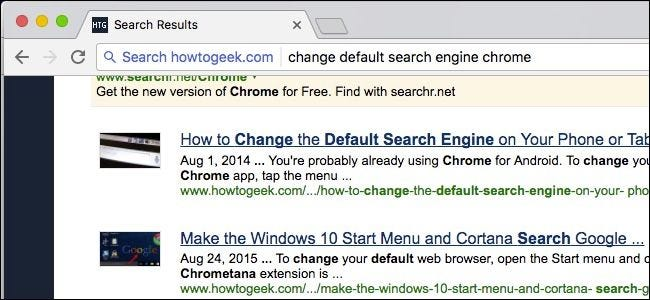 How do you change a default search engine?