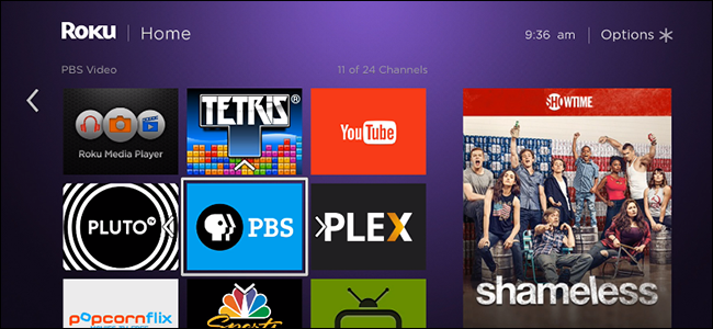 An ad on a Roku home screen.