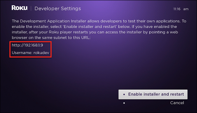 roku-developer-screen