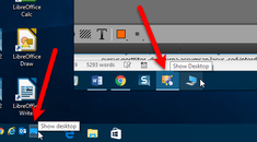 "How to Move the ""Show Desktop"" Icon to the Quick Launch Bar or the Taskbar in Windows"