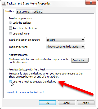 How to Disable Aero Peek in Windows