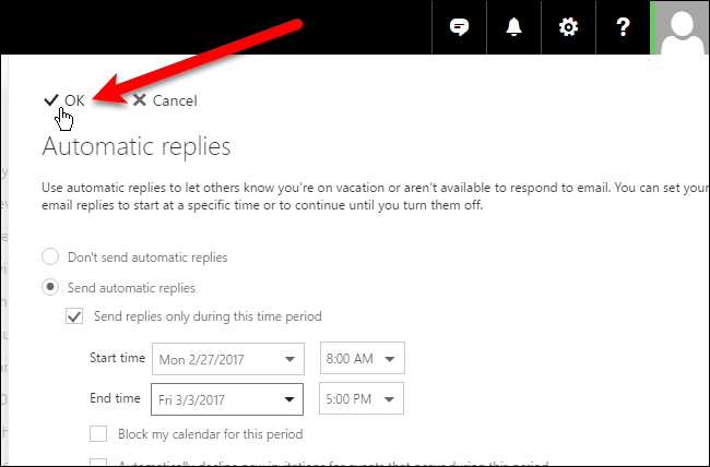 how to set up out the office on outlook