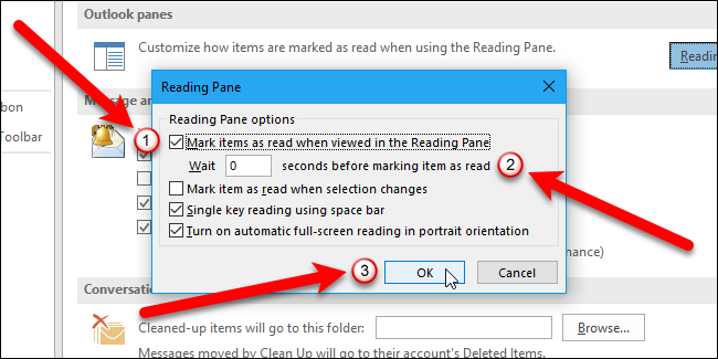 How to Mark Messages as Read as Soon as You Click on Them in Outlook