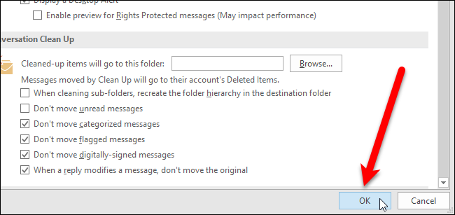 how to make mail read once clicked on outlook