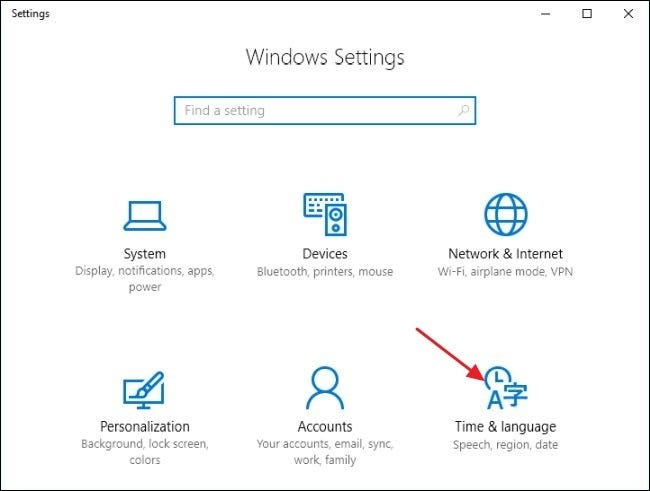 How to change computer language from arabic to english windows 10
