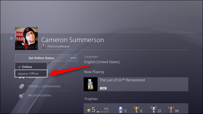 How to Set Your Online Status on the PlayStation 4