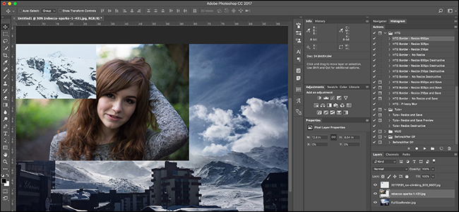 How to Open up Multiple Images in a single doc. in Photoshop