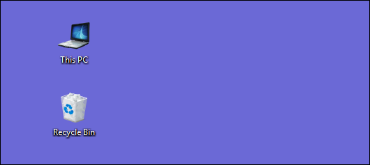custom icon shown on desktop