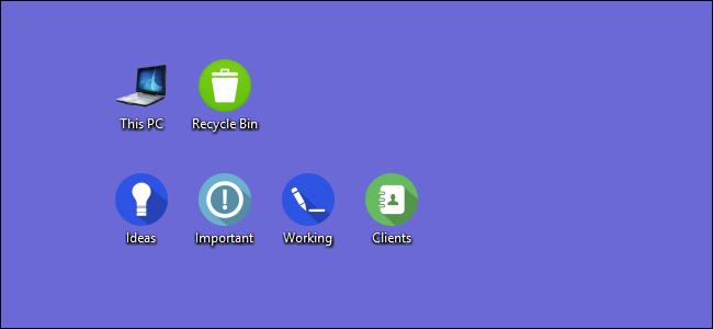 custom icons shown on desktop