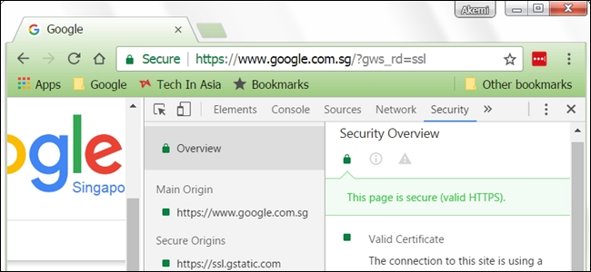 How do you view ssl certificate details in google chrome Browser info