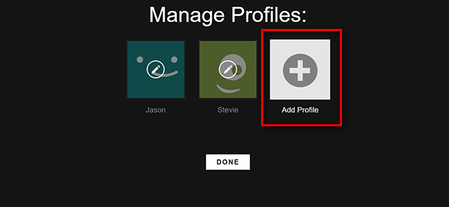 How to create a profile on netflix
