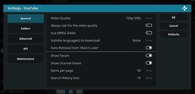 kodi-youtube-settings
