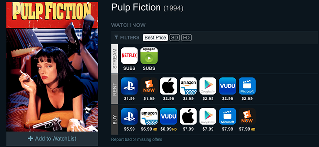 is pulp fiction on netflix canada
