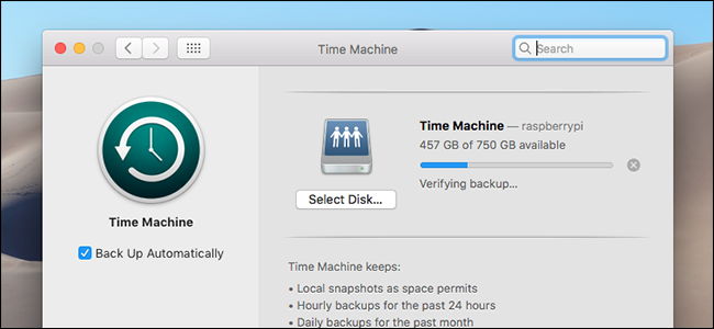 time-machine-verifying-window