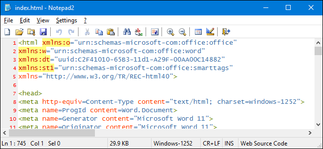 how to change font color in html using notepad
