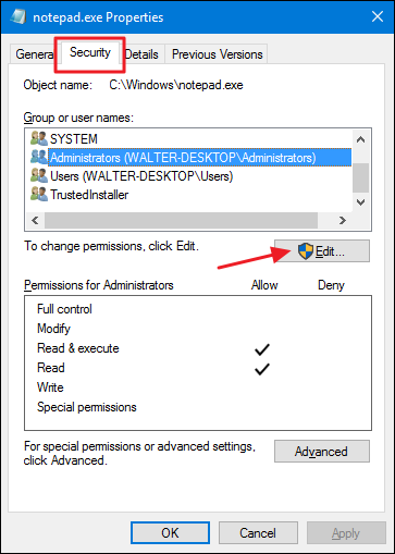 notepad.exe windows 7 location