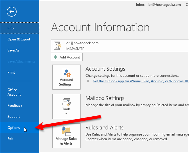 how to change my outlook name