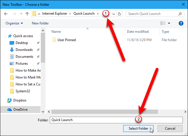 Youll See The Quick Launch Toolbar On Taskbar But Its Right Original Bar Was Left Next To Start Button
