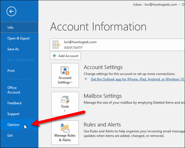 how to make outlook change i to i