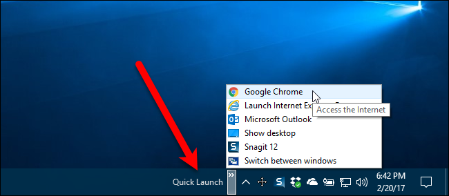 The Original Quick Launch Bar Was On Left Next To Start Button So Well Move It Side Of Taskbar