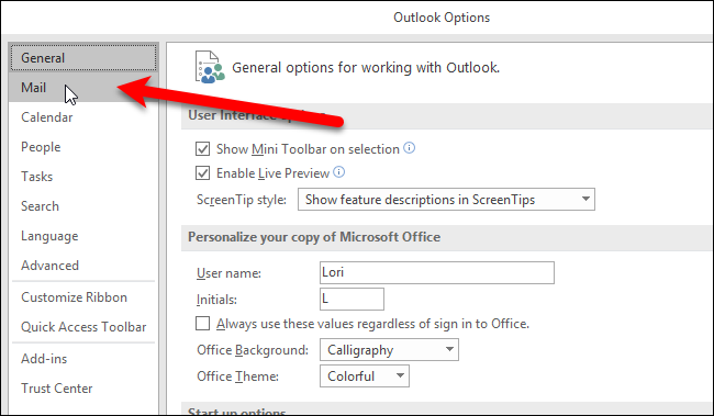how to change the reading pane in outlook