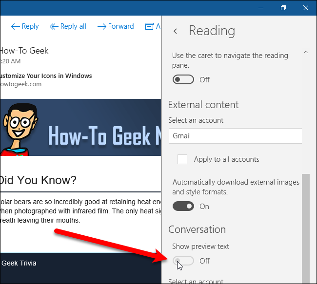 windows 10 how to show previous messages