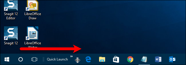 If You Want The Quick Launch Bar Right Next To Start Button Can Hide Cortana Icon And Task View