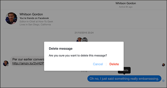 how to permanently delete messages from facebook