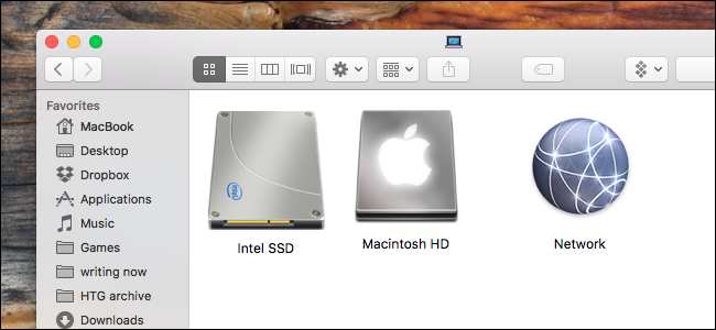 hard disk icon not showing on mac
