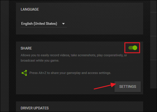 In The U201cShareu201d Section, Make Sure Sharing It Enabled And Then Click The  U201cSettingsu201d Button There.