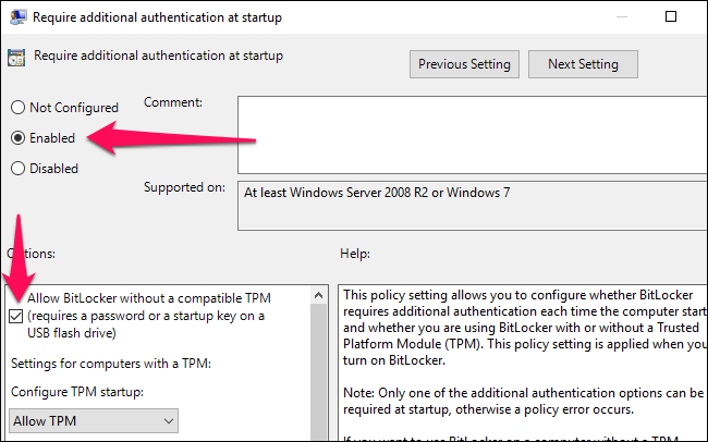 Turn on Bitlocker without TPM [SOLVED] | Tom's Hardware Forum