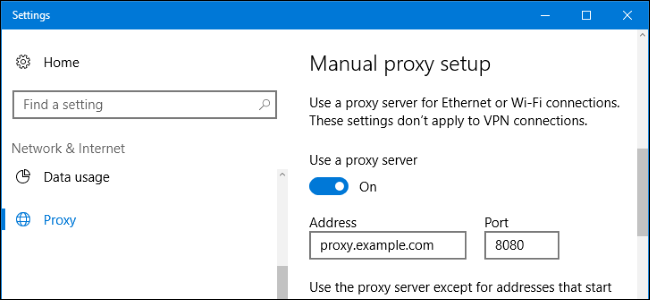 How to set proxy for windows