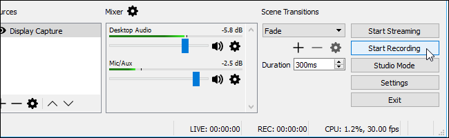 how to change where obs saves recordings