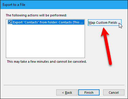 How to import and export contacts between outlook and gmail what does it mean to map custom fields simply some of the fields in your outlook address book might not match the destination youre importing to in v solutioingenieria Choice Image